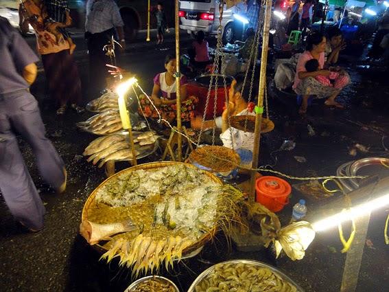 Yangon Night Market sea food