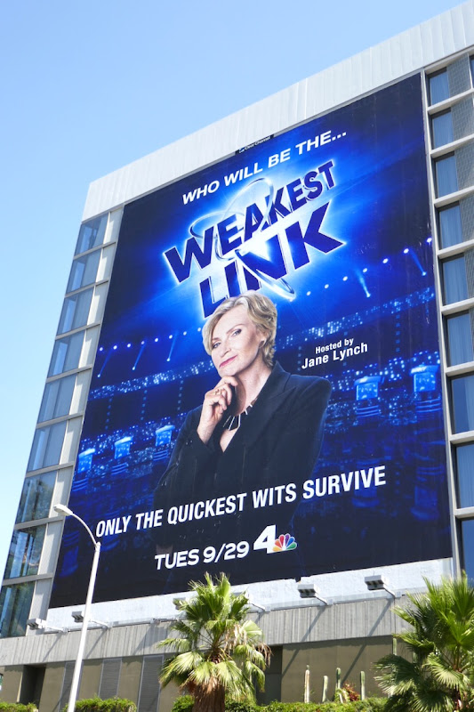 Weakest Link USA revival billboard