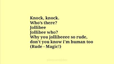 Jollibee Knock knock pinoy jokes