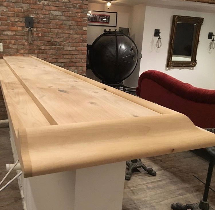 diy bar. We began this project with a brand new bar top  This was custom but you could easily make DIY Just create planked wood from Gardners 2 Bergers Rustic Brown Bar Top