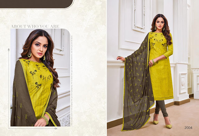 ICE CREAM SOFT SILK EMBROIDERY WORK MATERIAL WITH DUPATTA WORK-RS 555 , DESIGNS-12 , SET RATE- RS 6660