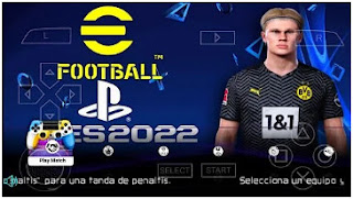 Download eFootball PES 2022 PPSSPP Best Graphics Menu Update And Kits 2021 & Latest Transfer