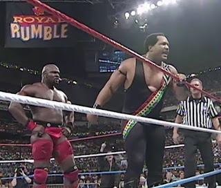 WWF / WWE Royal Rumble 1997 - Farooq and Ahmed Johnson continued their rivalry