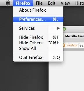 Pop-Up-Windows-Firefox- تفضيلات