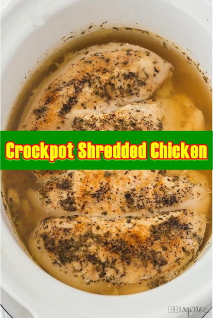 #Crockpot #Shredded #Chicken