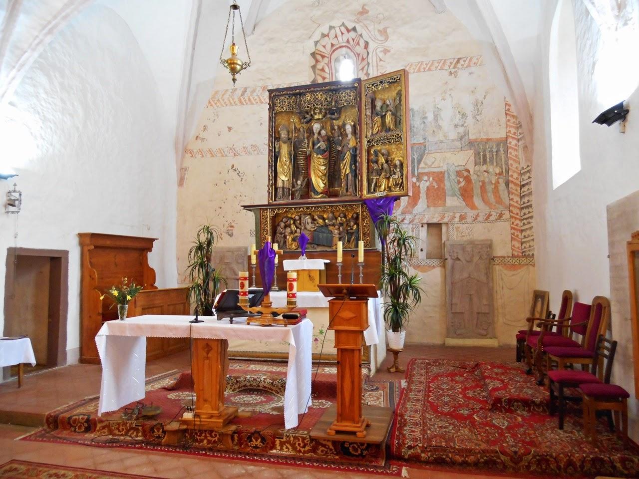 Mistrz z Gościeszowic, rzeźby, święci, wnętrze kościoła