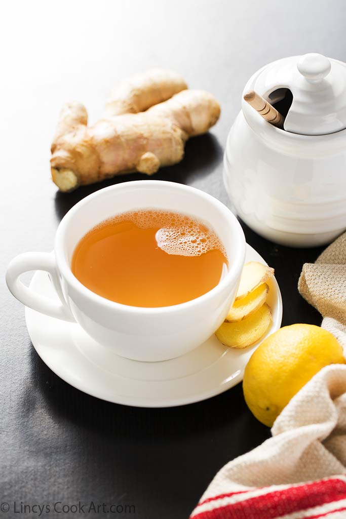 Ginger Lemon Honey Tea  for cold and flu