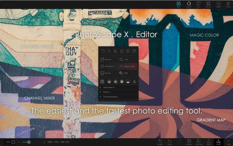 أفضل بدائل فوتوشوب Mac Photoscapex