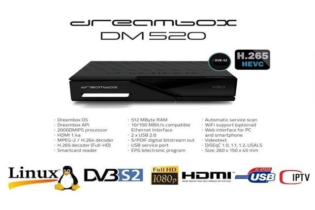 DREAMBOX DM 520 HD ATUALIZAÇÃO 5.5 - 11/10/2016