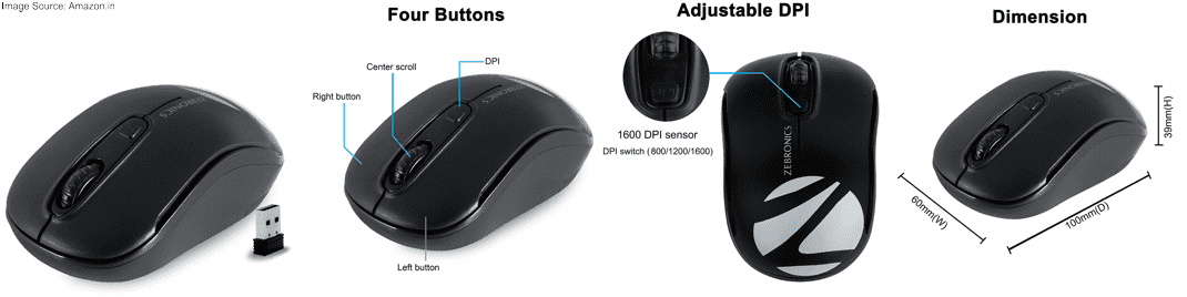 Zebronics Zeb Dash Wireless Mouse