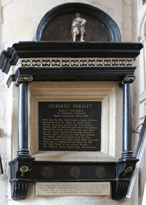 Memorial to Osbert Parsley, in Norwich Cathedral