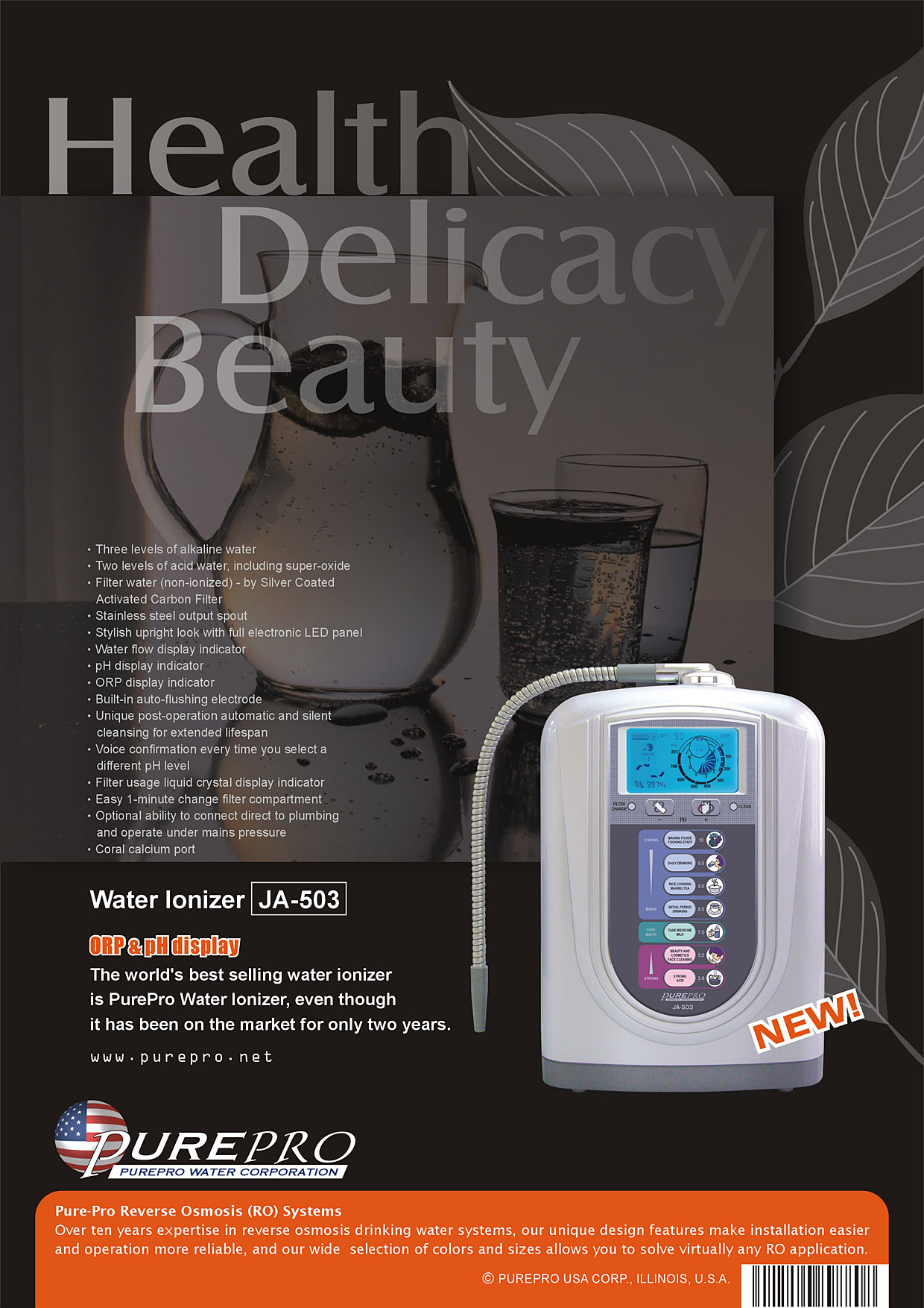 PurePro USA Water Ionizer JA-503