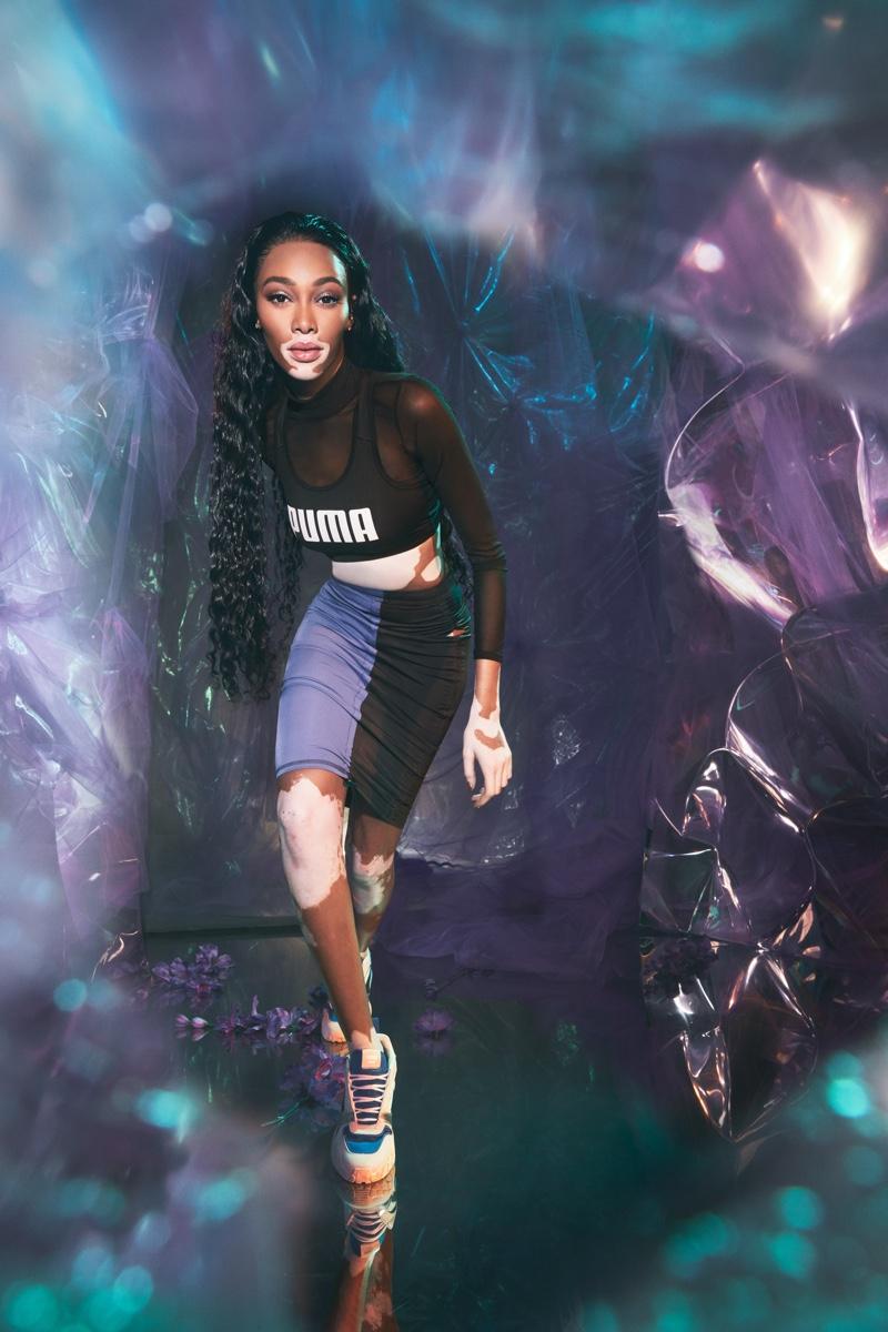 Winnie Harlow stars in PUMA Kyron sneaker campaign.
