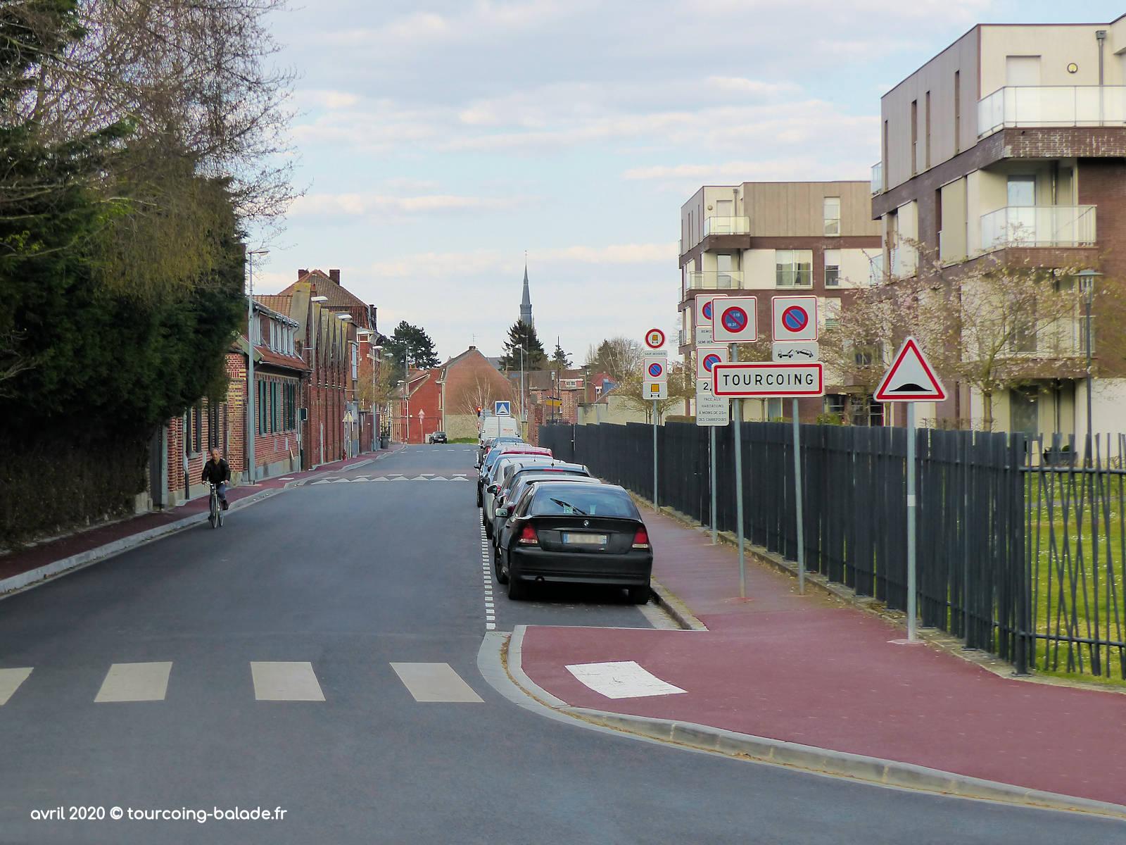 Panneau Ville Tourcoing, rue du Flocon, 2020