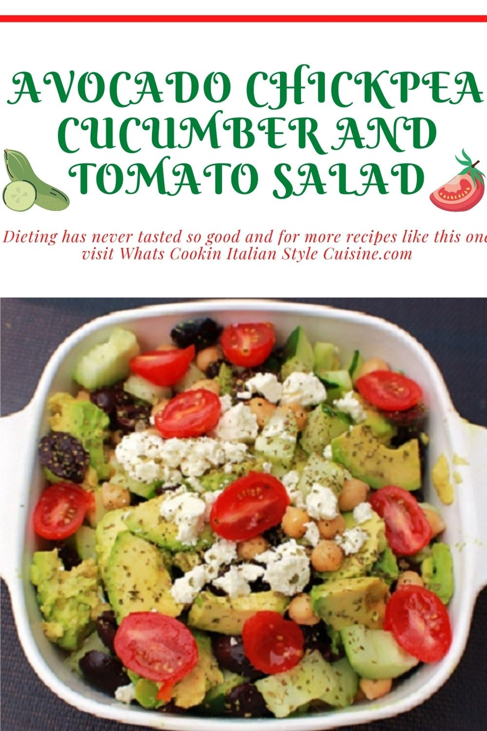this is a pin for later how to make an avocado Greek Salad