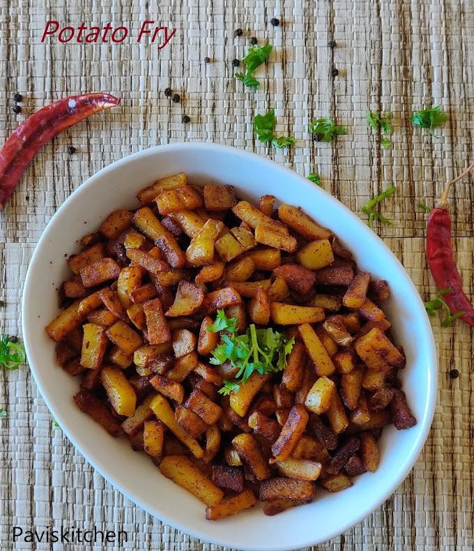 Potato varuval recipe | Urulai kilangu varuval | Potato fry south Indian recipe