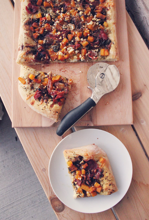 Fall Harvest Butternut Squash Pizza with Pumpkin Spice Balsamic