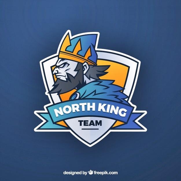 Template logo esport polosan north king