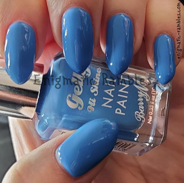 Nail Polish Swatch Barry M Blue Margarita Summer 2021 Gellys