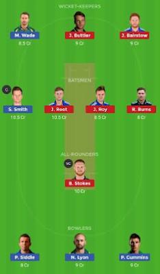 AUS vs ENG dream 11 team | ENG vs AUS