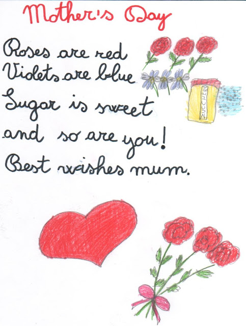 Mothers day poems from child