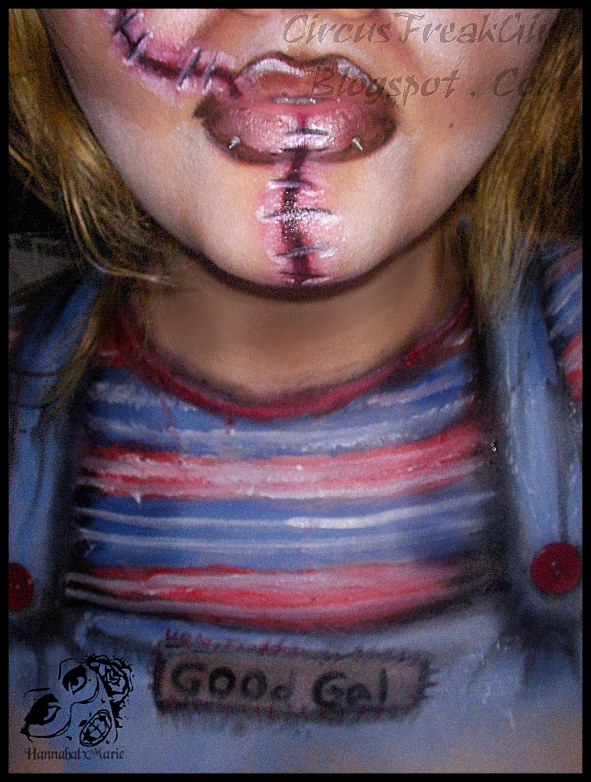 Hannabal Marie Female Chucky Makeup Look
