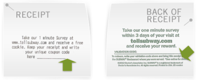 Subway Malaysia Customer Survey Feedback Form Online Free Cookie