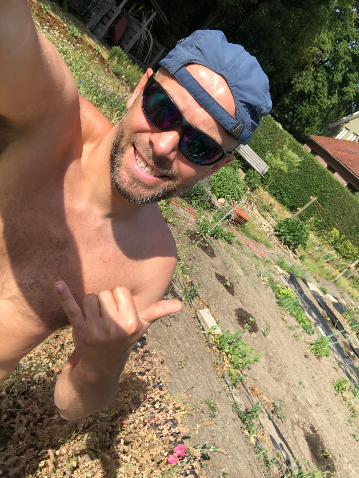 moestuin droogte moestuin volkstuin 2020 selfie
