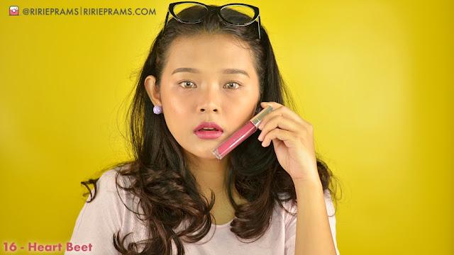 Review & Swatch Wardah Exclusive Matte Lip Cream 16 heart beet