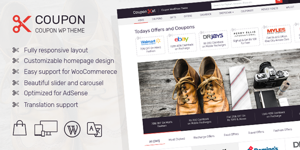 Coupon v2.1.2 - Best Coupon WordPress Theme You Always Wanted To Increase Earning