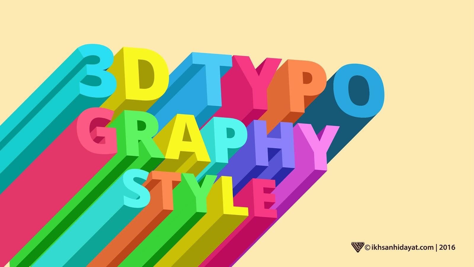 creat 3d typograpy