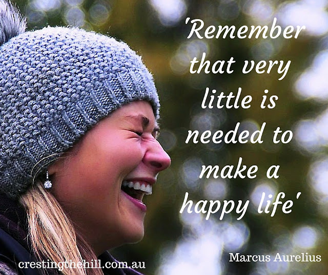 Marcus Aurelius — 'Remember that very little is needed to make a happy life