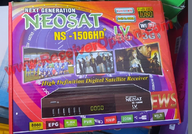 NEOSAT NS-1506HD PLUS 1506LV 1G 8M NEW SOFTWARE WITH ECAST & DOLBY SOUND OK