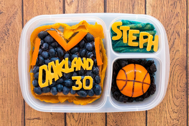 Steph Curry Golden State Warriors Food Art Basketball Lunch!