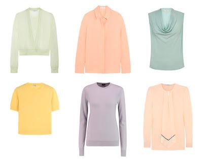 Блузки и свитера пастельных цветов