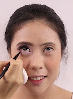 And apply darker colour on outer lower lash for wider eyes.