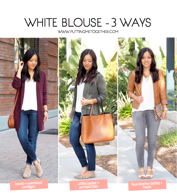 Outfits With a White Blouse