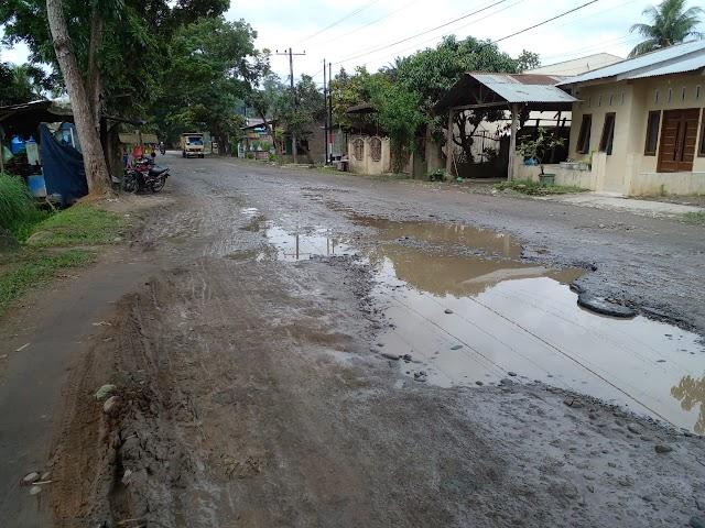 Sejumlah Ruas Jalan di Kawasan Kelurahan Pinang Mancung dan Kelurahan Teluk Karang Rusak Parah