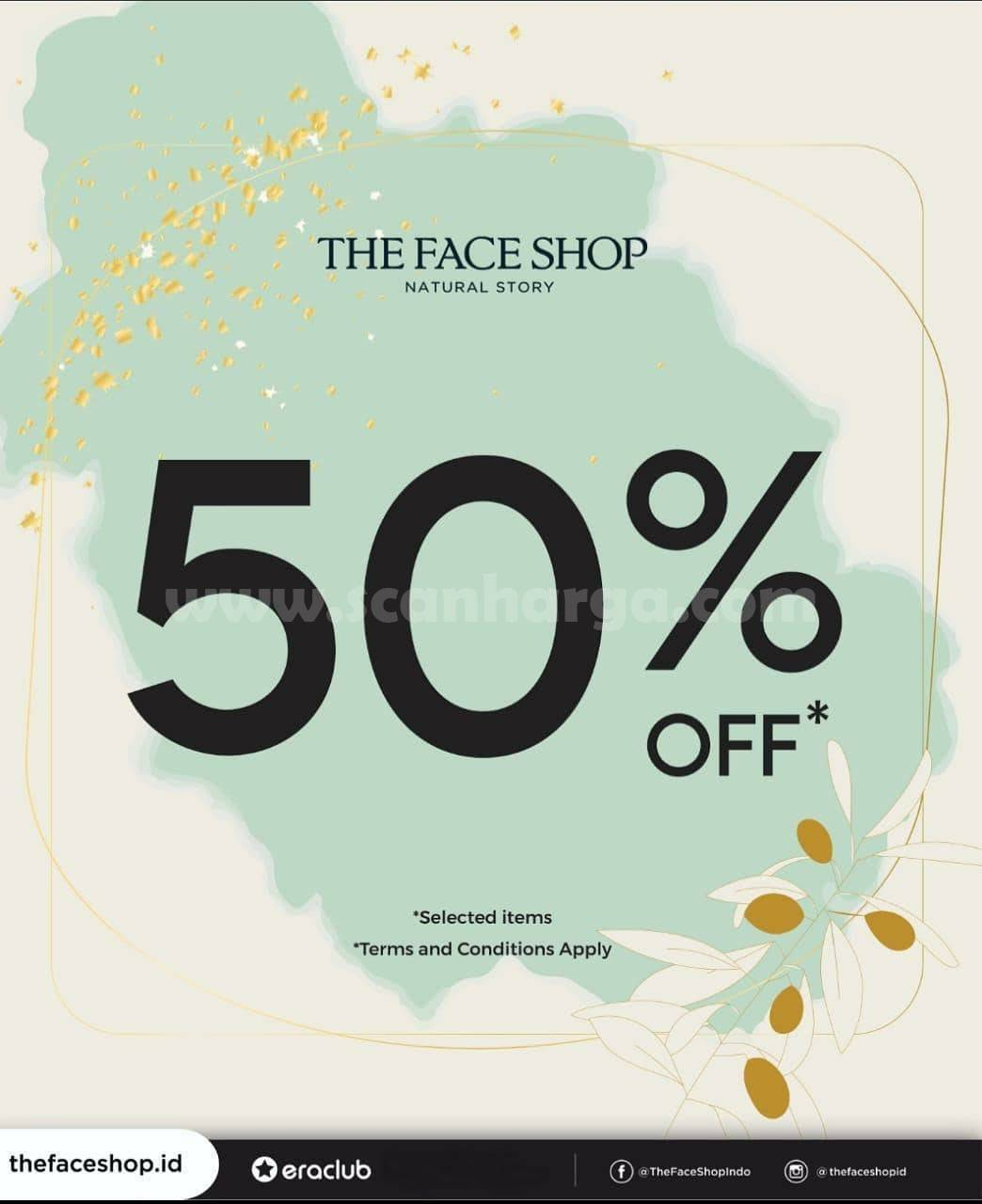 Promo THE FACE SHOP Discount 50% Off Selected Items