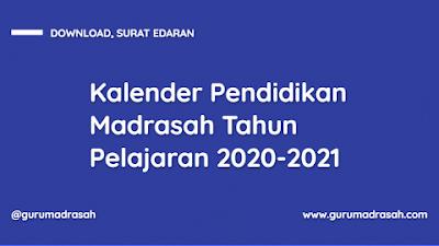 SK Dirjen Pendidikan Islam tentang Kalender Pendidikan Madrasah TP. 2020/2021