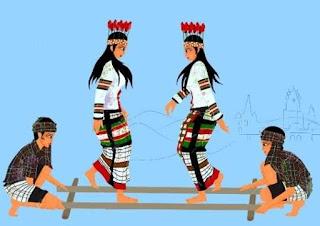 Khantumm bamboo dance is the folk dance - Mizoram