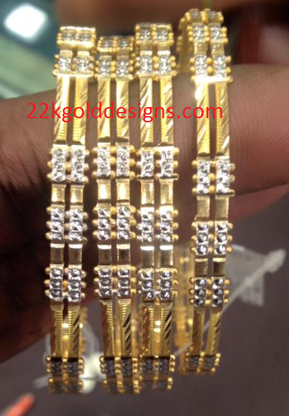 Gold Rhodium Bangles