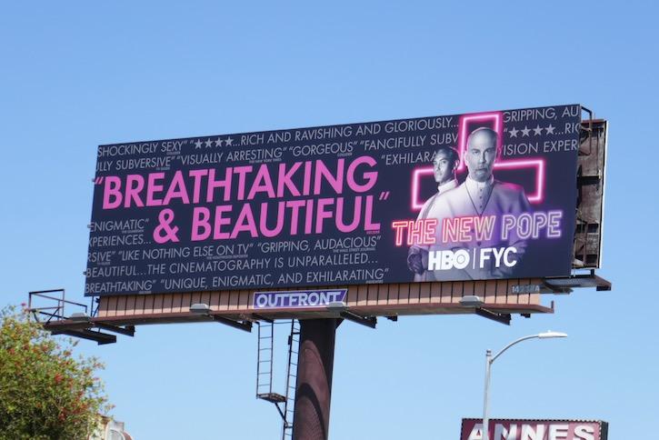 New Pope Emmy FYC billboard