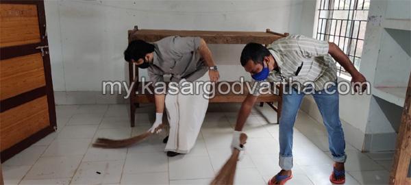 Kerala, News,  Congress activists clean up covid centers