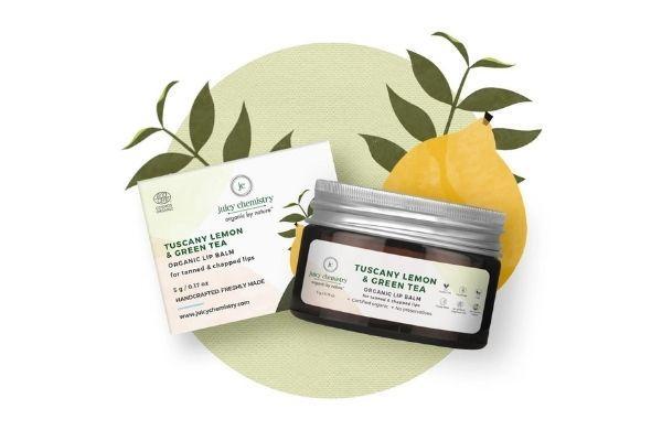 Juicy Chemistry Tuscany Lemon & Green Tea Organic Lip Balm
