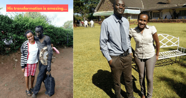 Kenyan Woman Finds Childhood Friend Going Crazy & Living in the Streets, Saves His Life