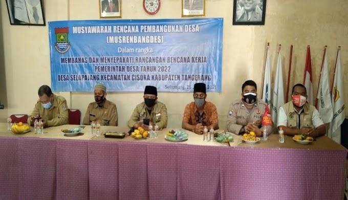 Infrastruktur Desa Jadi Usulan Prioritas di Musrenbang Desa Selapajang Kecamatan Cisoka