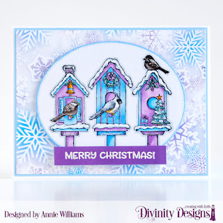 Stamp Set: Christmas Birdhouses, Custom Dies: Pierced Ovals, Paper Collection: Christmas  2019