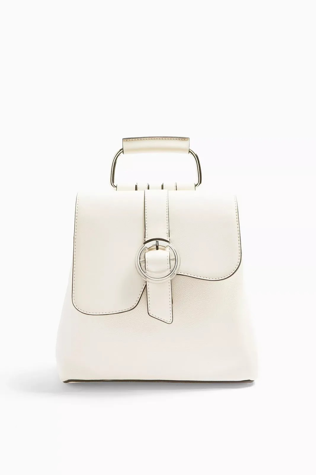 White Button Bagpack