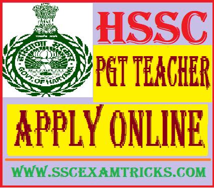HSSC PGT Chemistry Teacher Recruitment